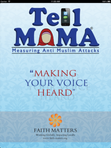 Front cover TELL MAMA iPhone Application