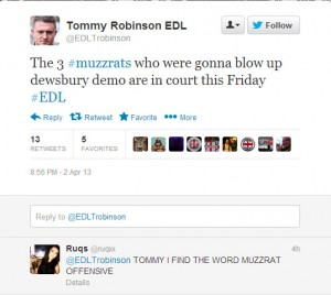 Tommy Robinson – Back to His Hate Tweets