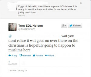 Threats from 'Tom EDL Nelson'
