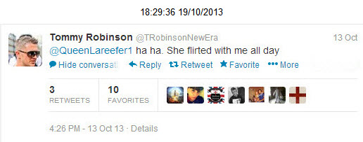 Tommy Robinson Queen Lareefer