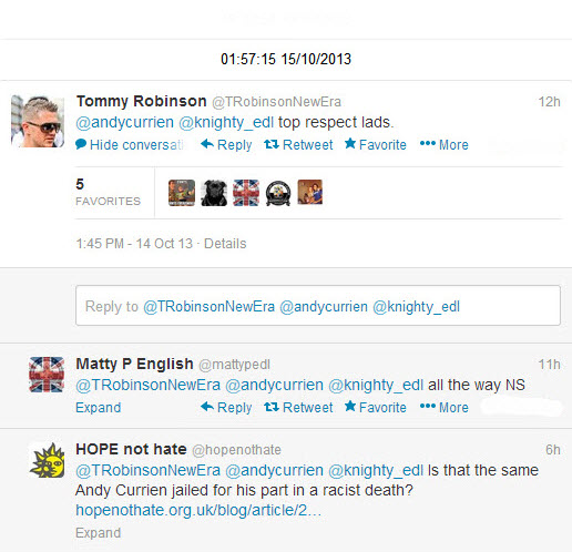Tommy EDL supporters