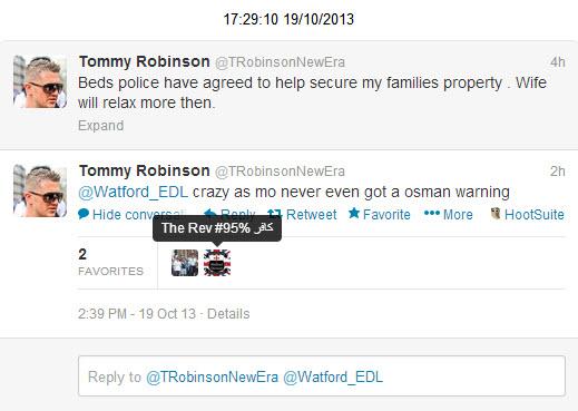 Watford EDL Tommy Robinson 2