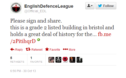 EDL Bristol Mosque planning applications