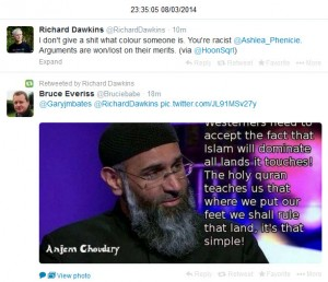 Dawkins Again, Retweeting Lazy Stereotypes About Muslims