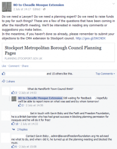 Cheadle planning objections
