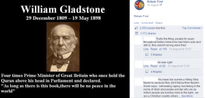 Gladstone and Islam – Anti-Muslim Memes Going Round, by Steve Rose