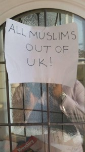 All Muslims Out of UK poster