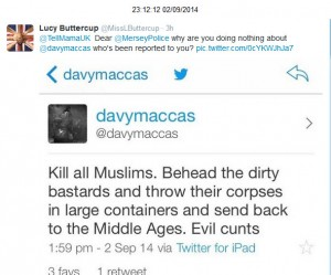 @davymaccas anti-Muslim threats
