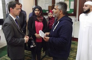 James Brokenshire MP, Barking Mosque