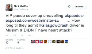 Conspiracy Theorist Nick Griffin Stoops to New Lows After Glasgow Bin Lorry Accident
