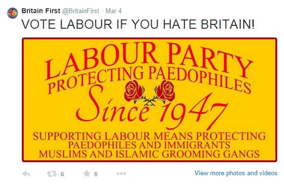 Britain First graphic