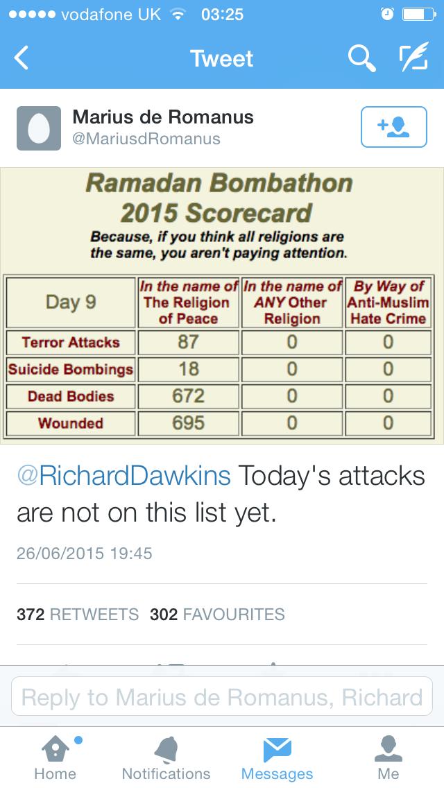 'Bombathon' anti-Muslim graphic
