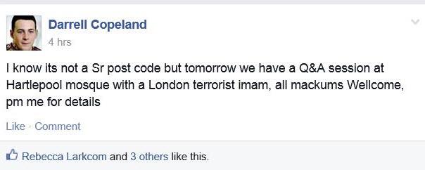 North East Infidels/Pegida Try to Disrupt Activities in Hartlepool Ahmaddiya Mosque