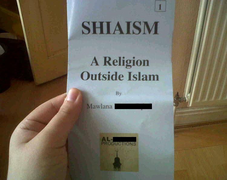 Anti-Shia leaflet