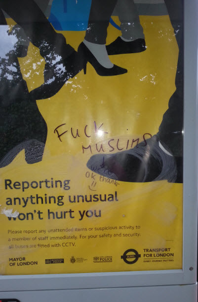 Anti-Musim abuse at bus stop