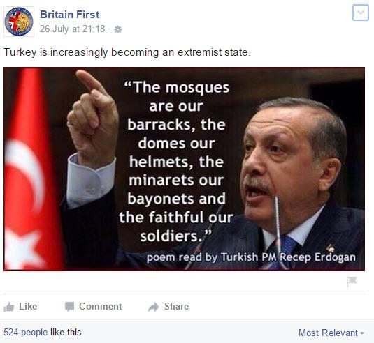 Erdogan - Britain First