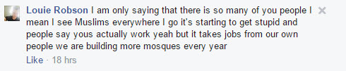 More mosques Louie Robson