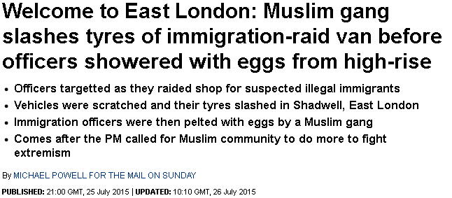 Mail on Sunday apologies for and corrects 'Muslim gangs' story
