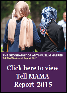 The geography of anti-Muslim hatred in 2015: Tell MAMA Annual Report