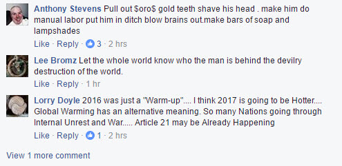 Classic antiSemitic responses to posts about George Soros