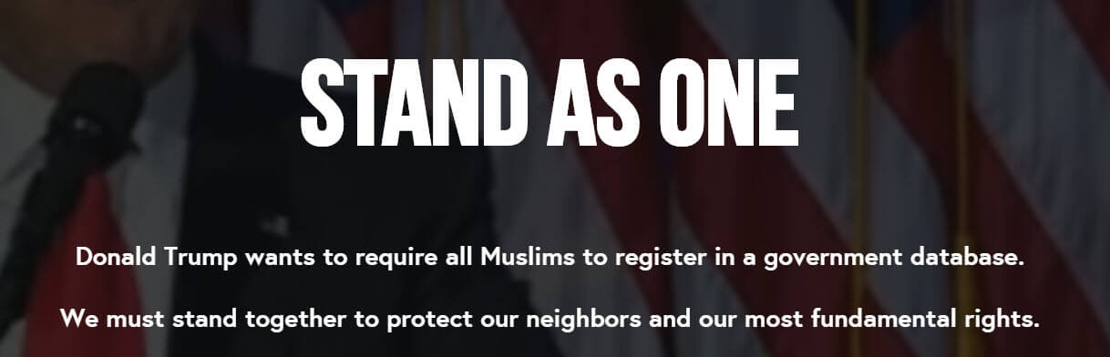 On website, thousands of Americans pledge to side with Muslims amid talk of registry