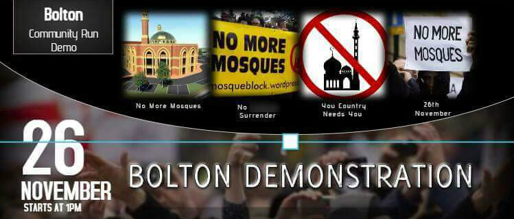 Bolton 'stop the mosque' protest shows more far-right coordination