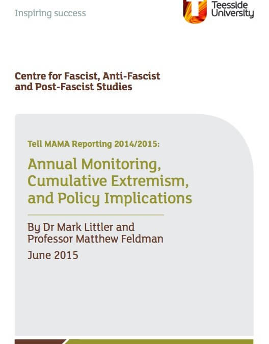 TELL MAMA 2014/2015 Findings on Anti-Muslim Hate
