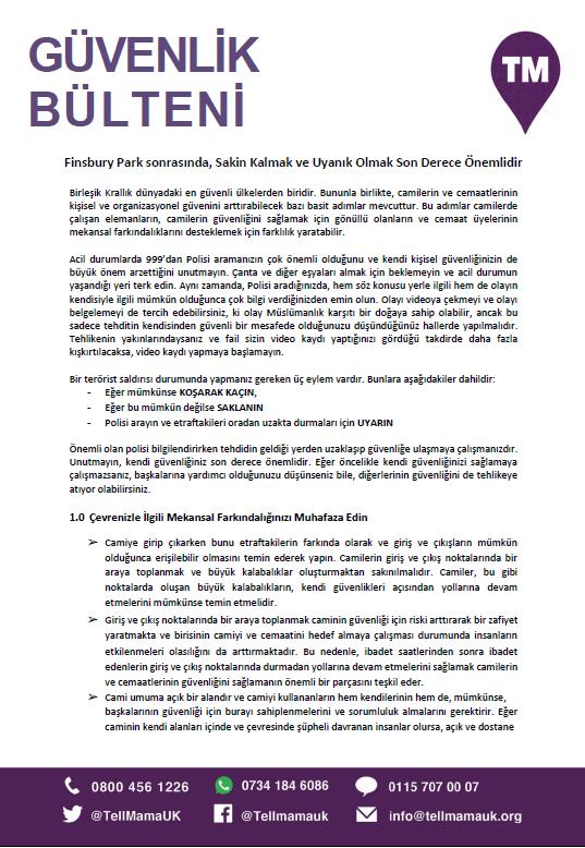 Security Bulletin in Turkish