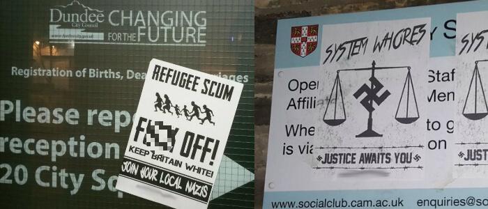 Neo-Nazis target minorities in Dundee and Cambridge