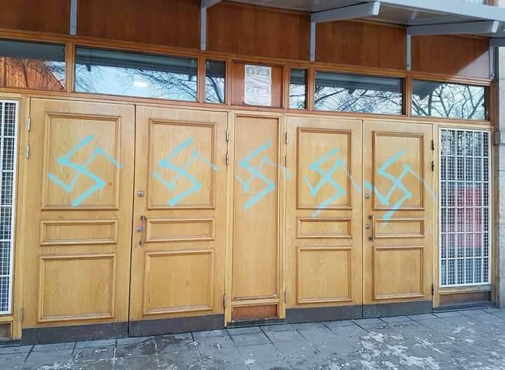 Stockholm mosque vandalised with swastika graffiti
