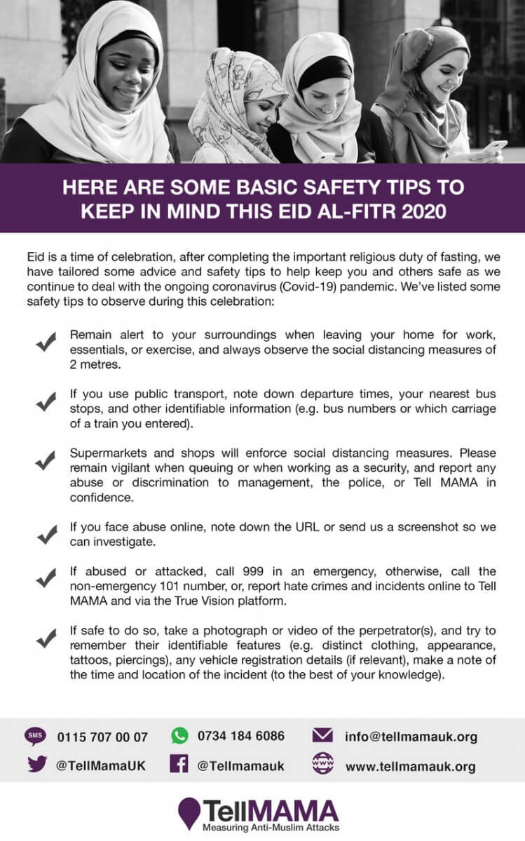 Safety tips to keep in mind – EID AL-FITR 2020