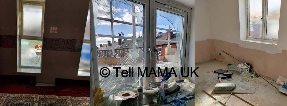 Two men charged after windows broken at Derby mosque
