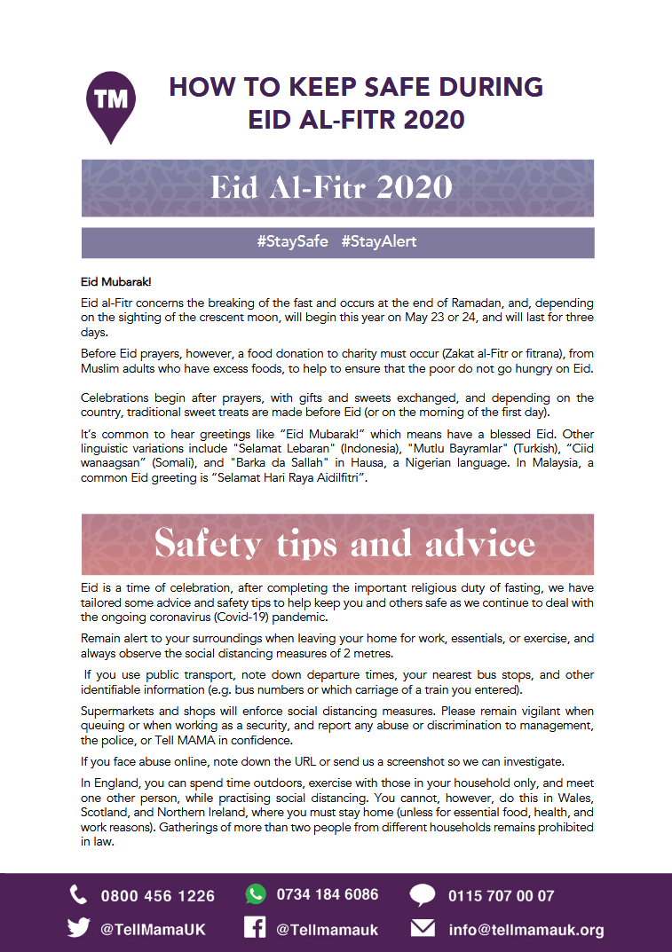How to Keep Safe During EID AL-FITR 2020