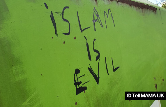Northumbria Police investigating 'Islam is Evil' and 'funds terror' graffiti