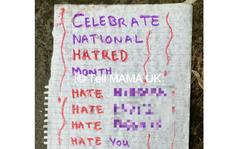Racist and homophobic letter calls for white supremacist violence in Sheffield